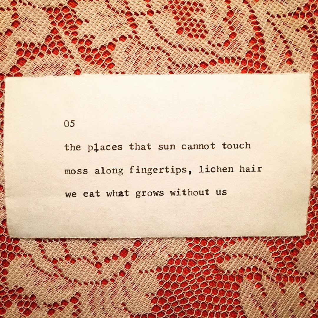 Day 5: Typewriter Poetry (National Poetry Month)