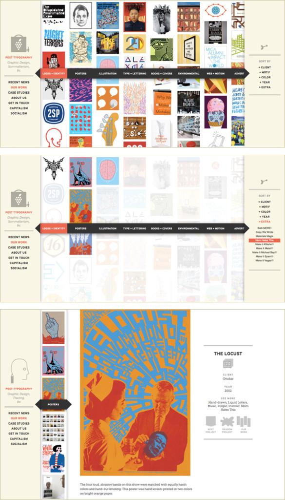 postmodern image-based site