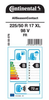 Certain sizes have been given a EU tyre label rating of 'B' for both wet grip and rolling resistance