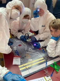 Year 7s got to be forensic scientists for the day.