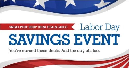 Labor Day Sale Sneek Peek