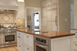 Microwave Ovens in a Kitchen Island