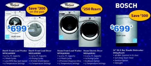 Washers and Dishwashers