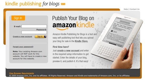 kindle con blogs