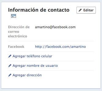 mail de facebook