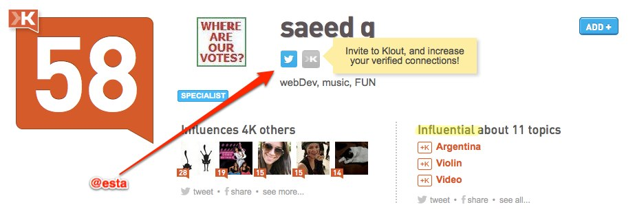 saeed g | Klout Influence Report