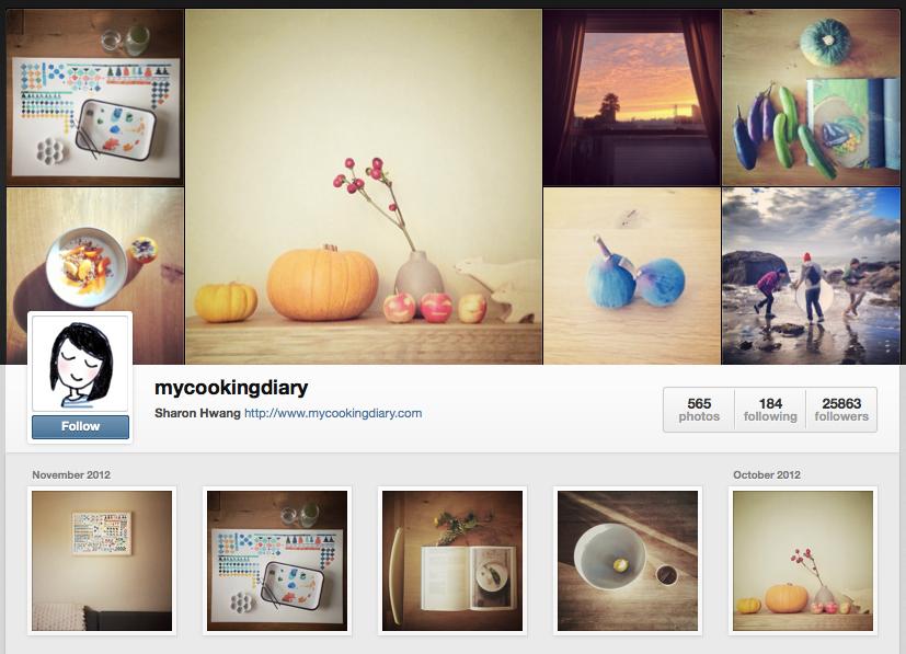 el perfil de instagram de cookingdiary
