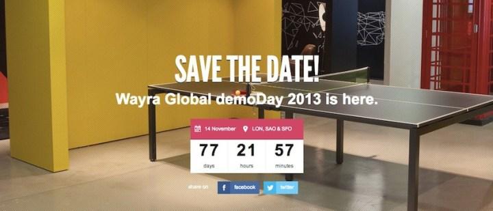 Wayra - Global demoDay 2013