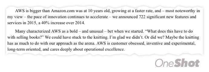 AWS crece más rápido que Amazon