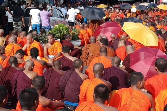 Supporters demand release of Sri Lankan Buddhist monk