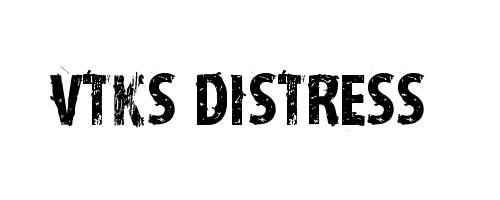 Distress font