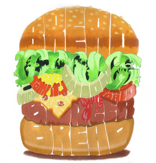 hamburger typography