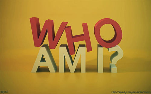 3d Typography Designs - Who Am I