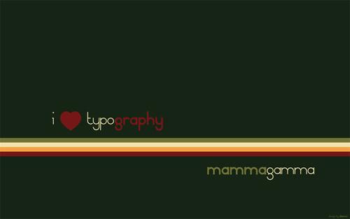typography retro italy