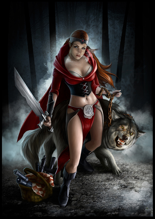 digital-painting-06-red-riding-hood-saves-the-day