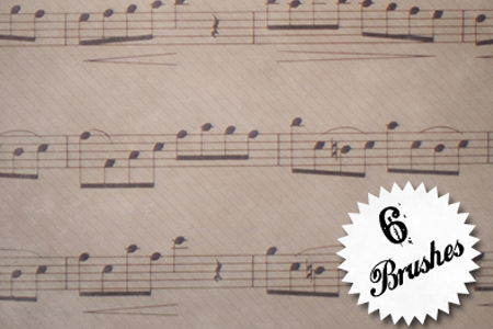 music-photoshop-brushes-21-Sheet-Music-Brush-Pack