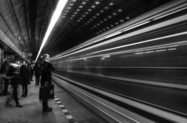 """Subway Black and White"" 