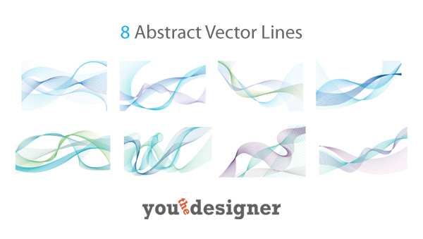 8 Abstract Vector Lines by YouTheDesigner