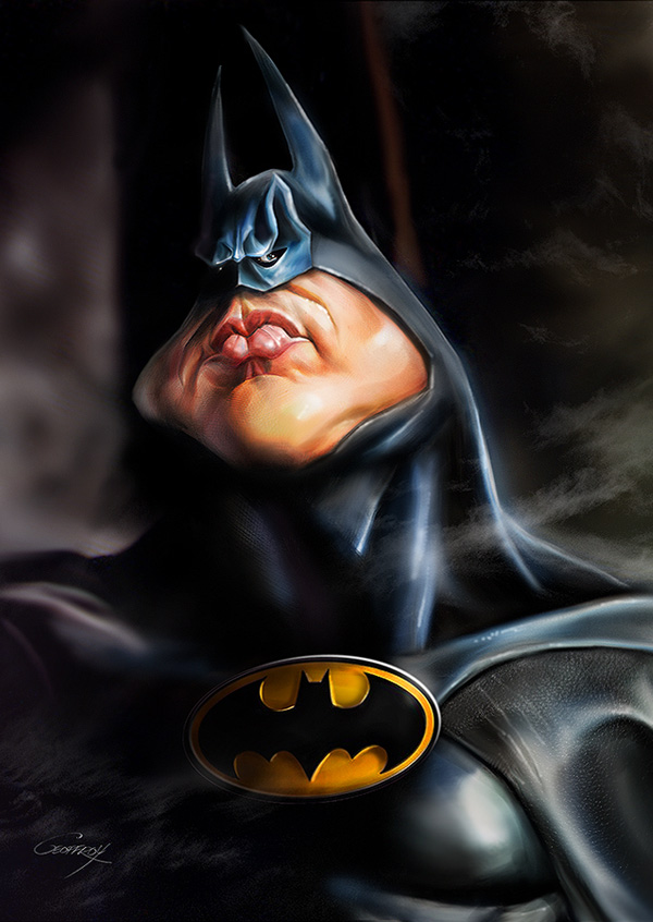 Batman caricature by Anthony Geoffroy