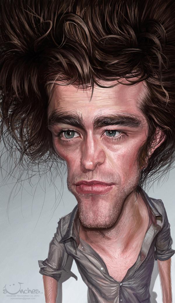 Robert Pattinson - caricature by Alex Novoseltsev