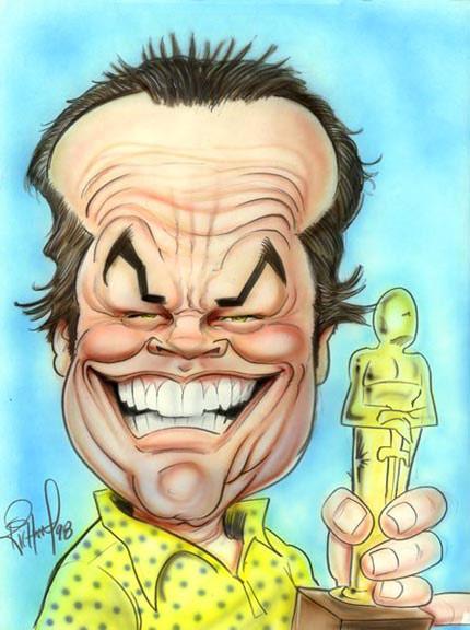 Jack Nicholson - caricature by Tom Richmond