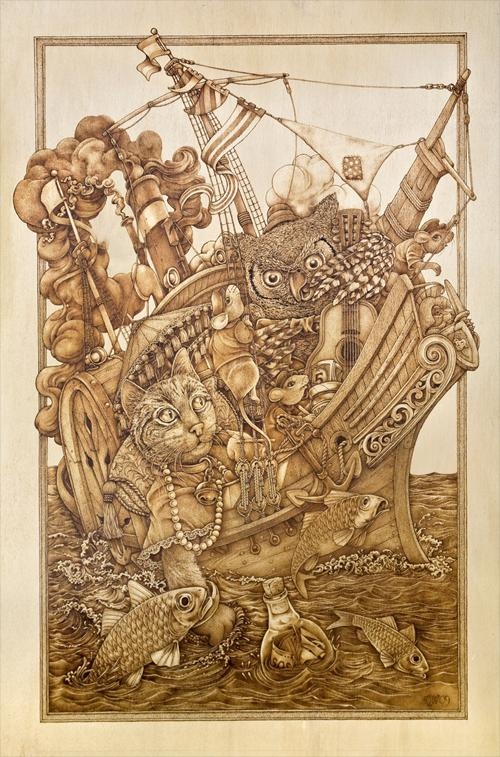 You be inspired pyrography drawing with fire