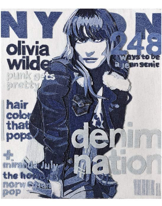 NYLON, denim art by Denimu