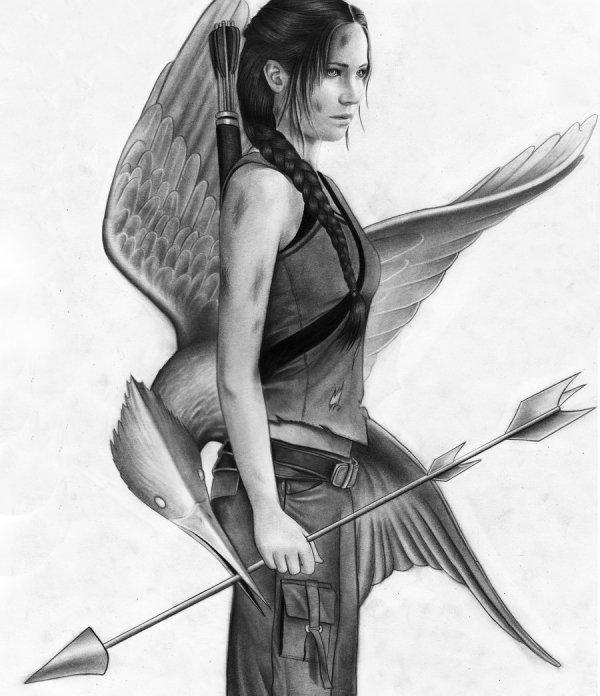 Jennifer Lawrence as Katniss by ~MShah123