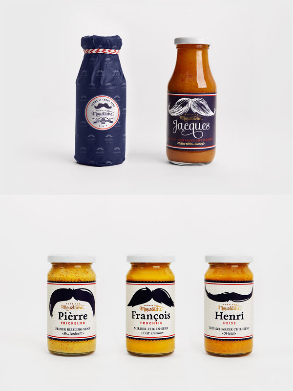 moustache packaging