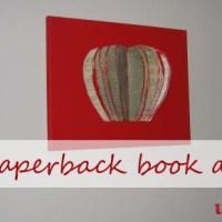 Repurposed Paperback Apple Sculpture Art