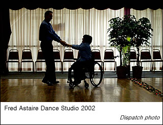 Rosemarie and Mark share a dance at the Fred Astaire Dance Studio
