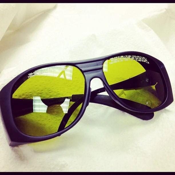 laser hair removal glasses