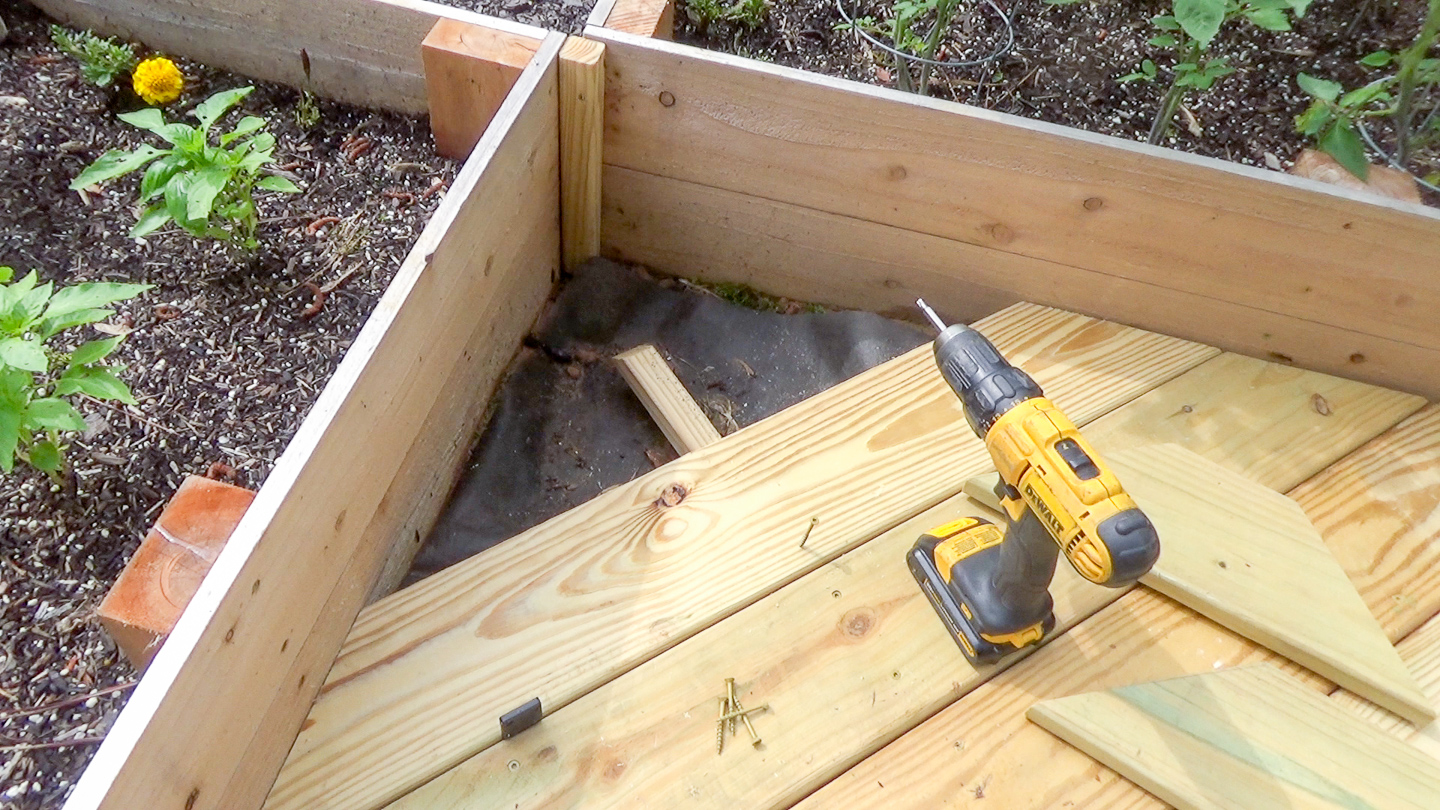 Engaging If You Were To Look At It Would Look Like A Hot Mess Stringers Stair That Attach To Deck Boards Arepractically Random Mini Garden Deck Scrap Deck Boards Made Useful Ugly Duckling House houzz-03 Deck Board Spacing