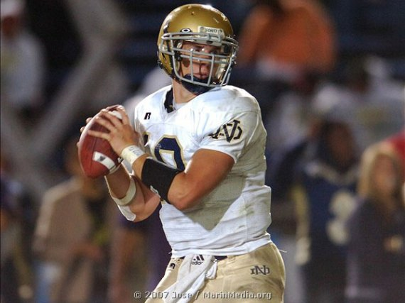 Dayne Crist - Notre Dame Fighting Irish Quarterback