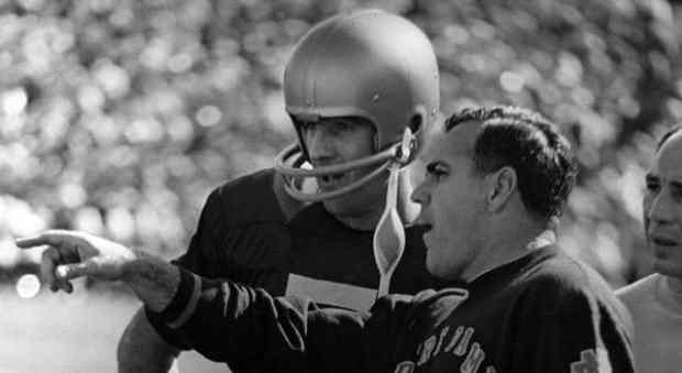 Ara Parseghian and Terry Hanratty