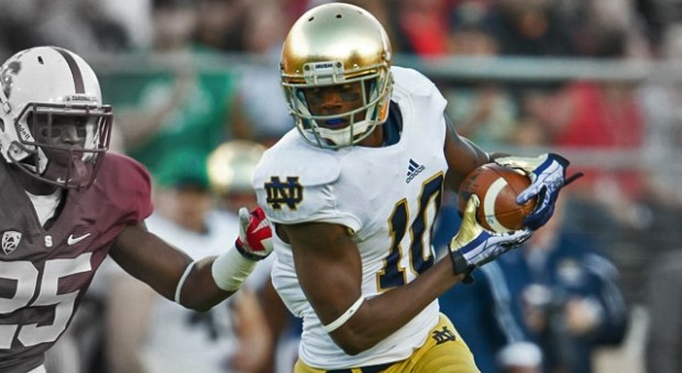 What can Notre Dame fans expect out of Davaris Daniels as the #1 WR for the Fighting Irish this fall?  (Photo: Matt Cashore / USA Today Sports)