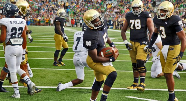 Everett Golson - Notre Dame vs. Rcie