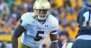 Notre Dame LB Nyles Morgan (Photo: Mark J. Rebilas-USA TODAY Sports)