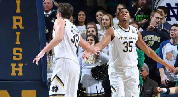 Bonzie Colson and Steve Vasturia had strong weeks for the Irish once again. Photo: © Matt Cashore // USA TODAY Sports