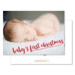 Small Crop Of Baby First Christmas