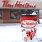 Winter Tim Hortons coffee