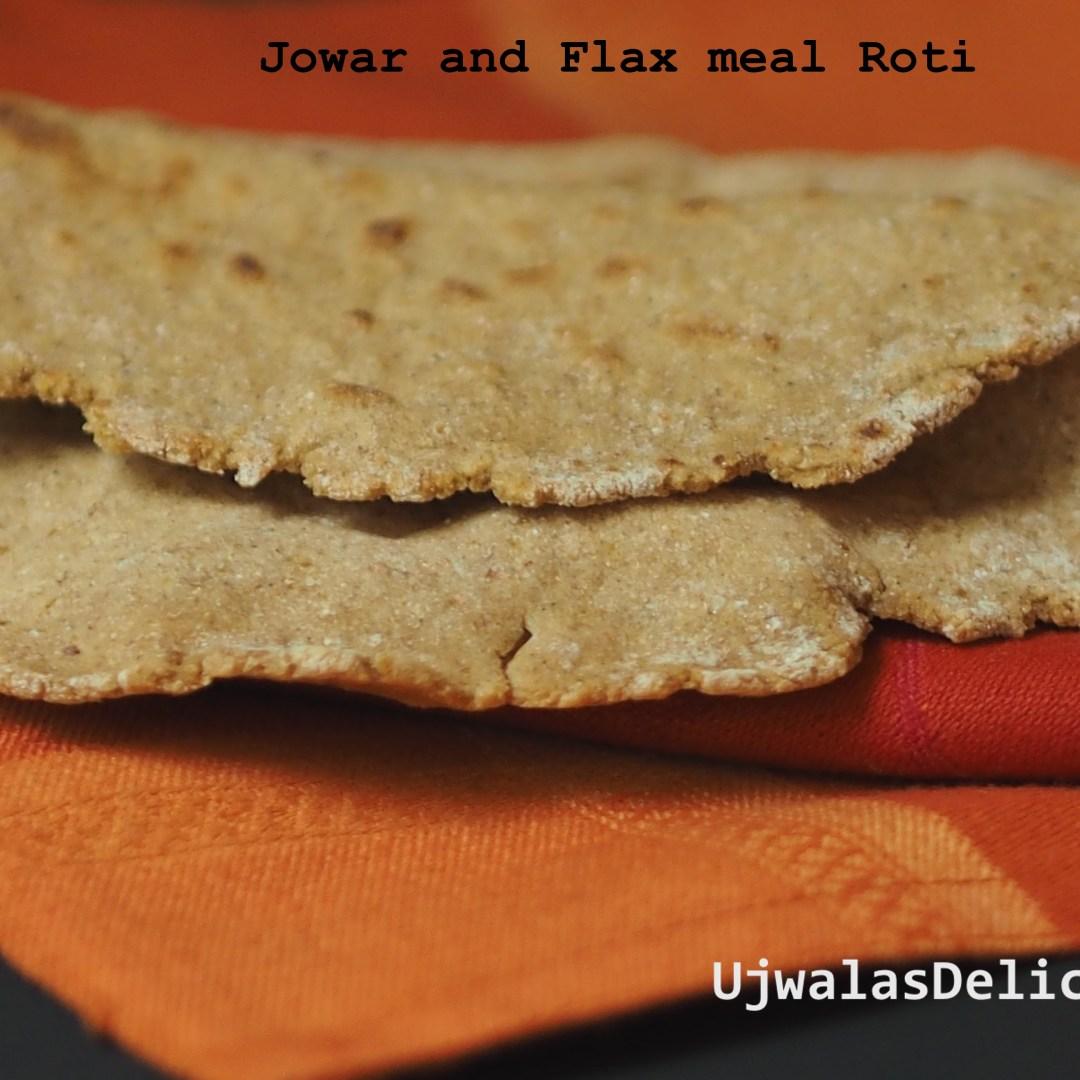 Jowar, flax meal roti