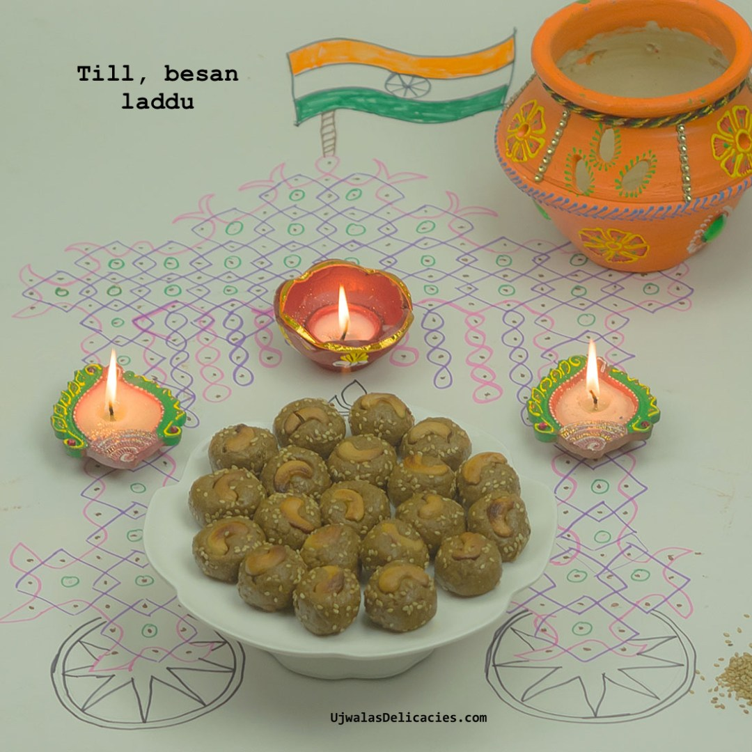 Till and besan laddu