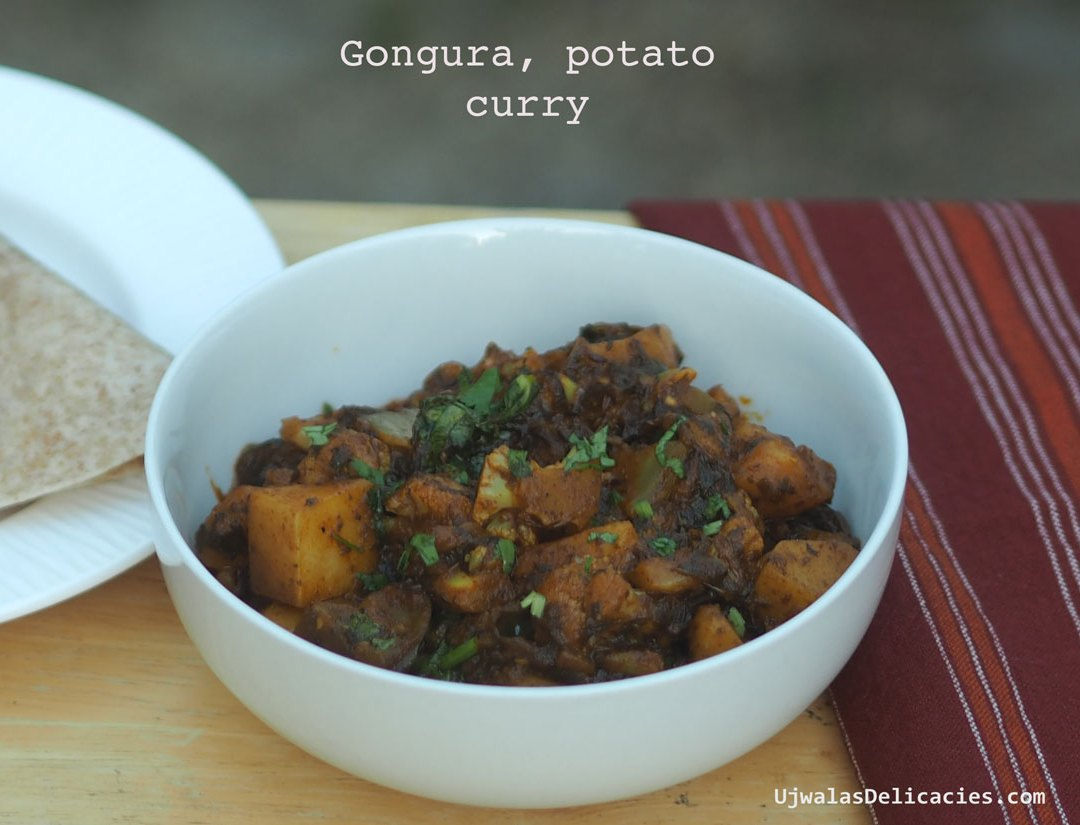 Gongura, potato curry