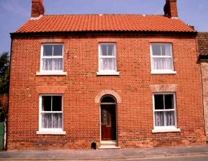 Victorian red brick house in Winterton, Lincolnshire