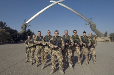 British soldiers on parade in York to mark Kosovo homecoming
