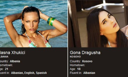 Albanian beauty shines at the Miss Universe contest