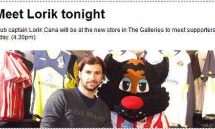 Lorik Cana and his fans