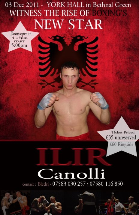 Ilir Canolli, boxing, 3rd December 2011, London