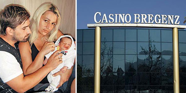 Behar Merlaku with his family and the Austrian casino